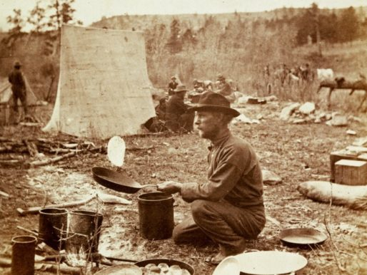 Baking Slapjacks, Yellowstone National Park, 1870s