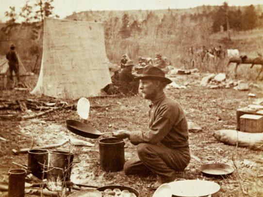 Baking Slapjacks, Yellowstone National Park, 1870s
