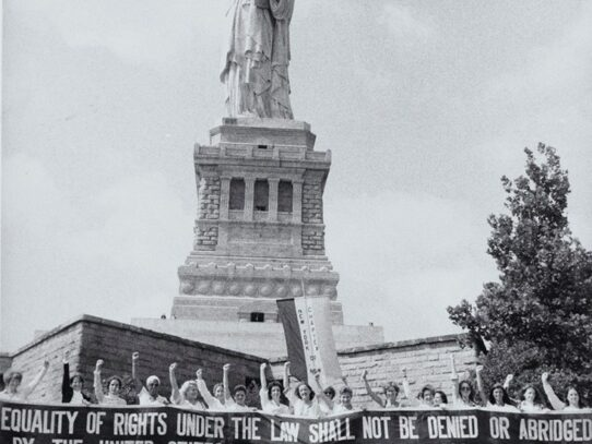 Women's Rights march to the Statue of Liberty, 1978