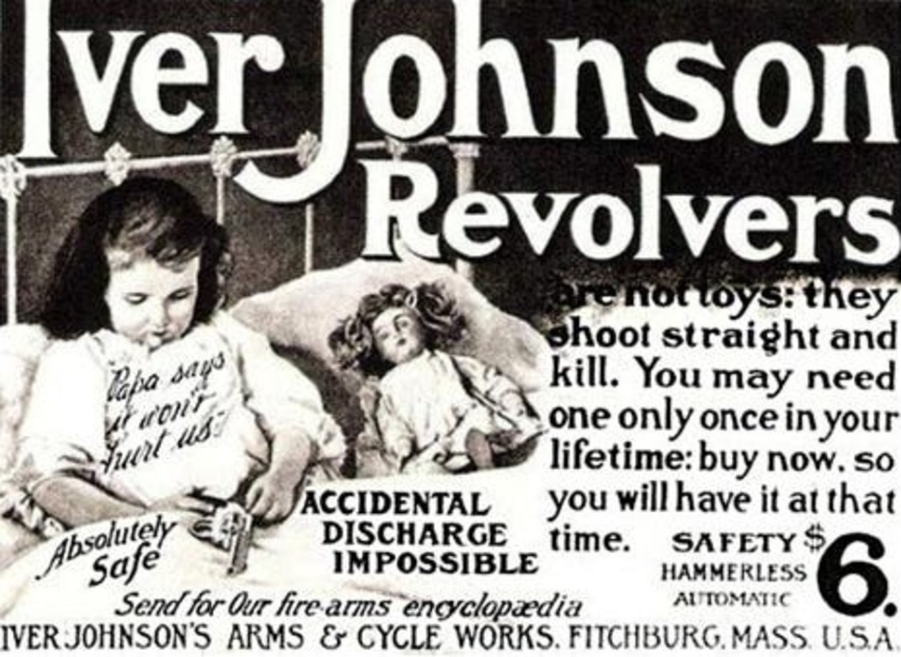 Old gun ad involving kids