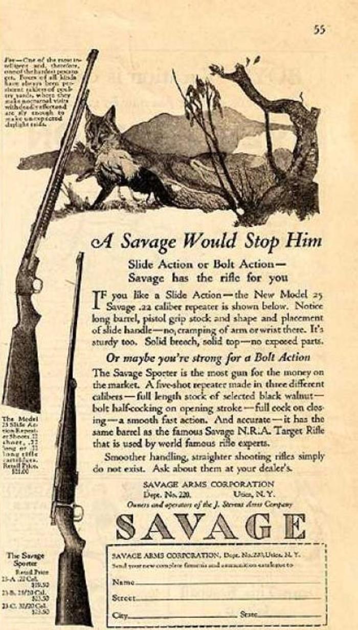 hunting old gun ads