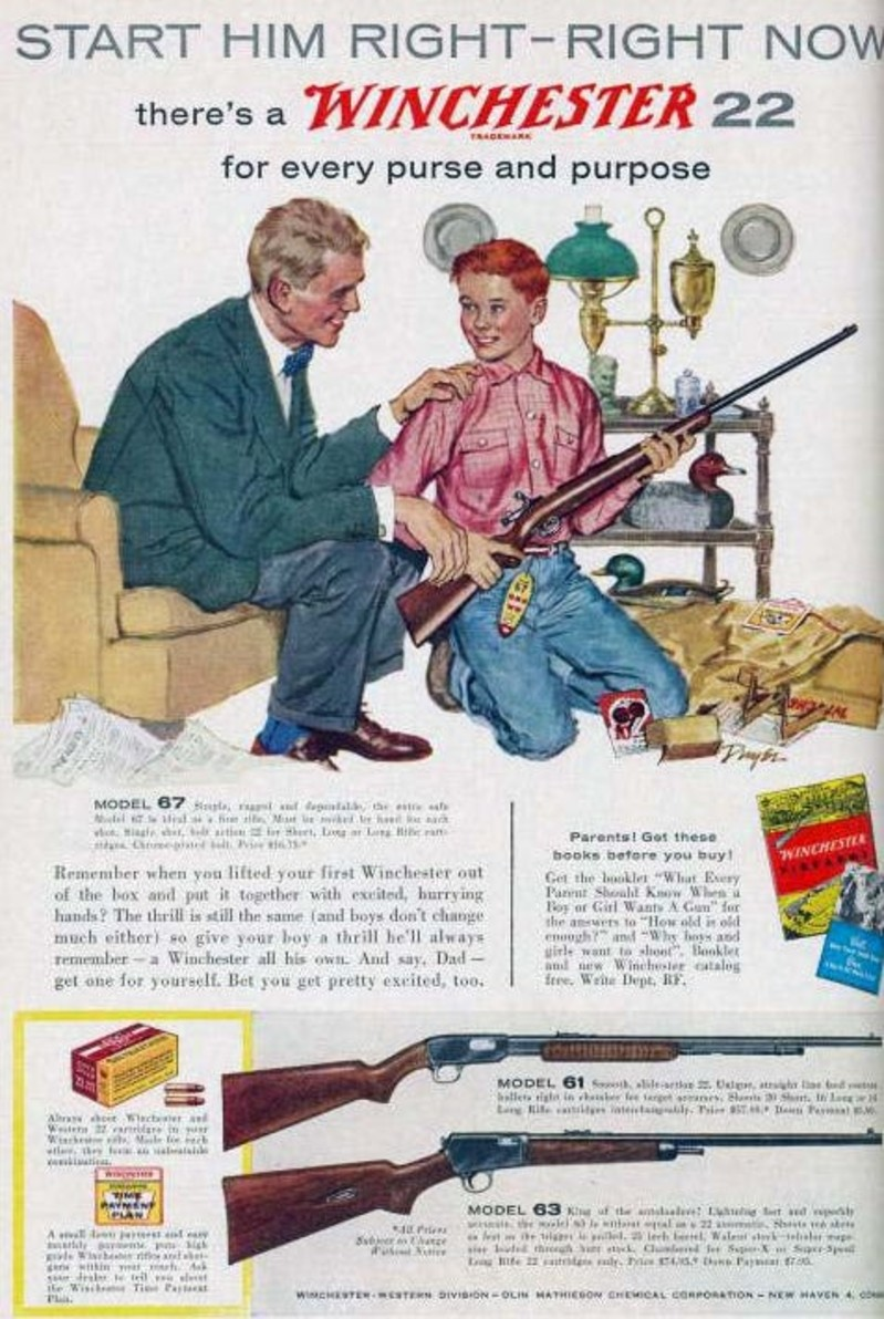 kids and gun advertising