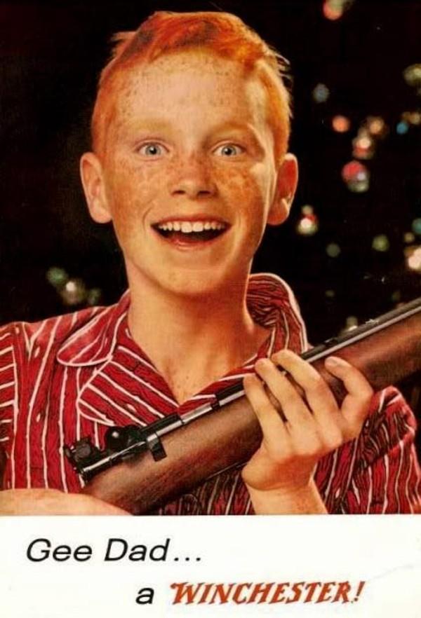 Guns make kids happy
