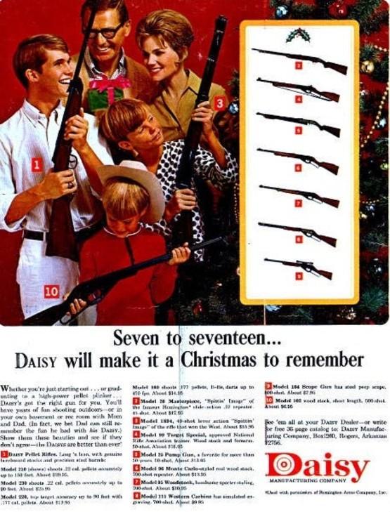 guns in christmas gift ads