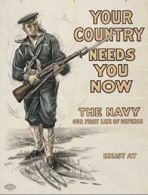 US Navy promotion poster , WWI
