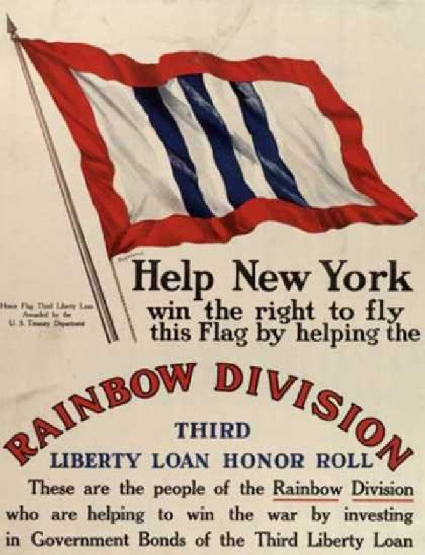 New York, 3rd Liberty loan, Rainbow division