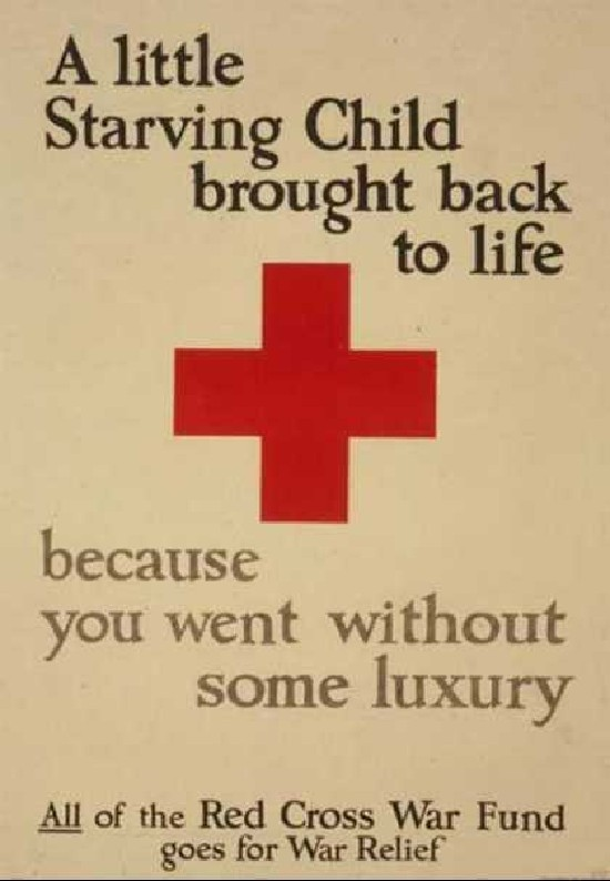 Red cross WWI poster