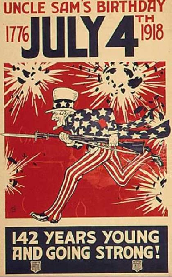 142 years young and still strong Uncle Sam is going to war