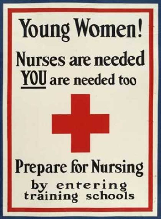 Recruiting the young women during WWI