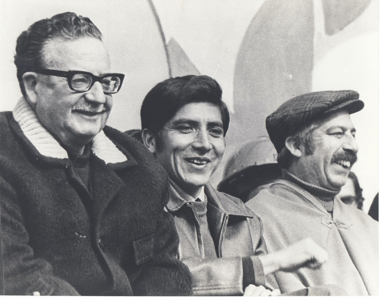 Allende among communist party members, 1971