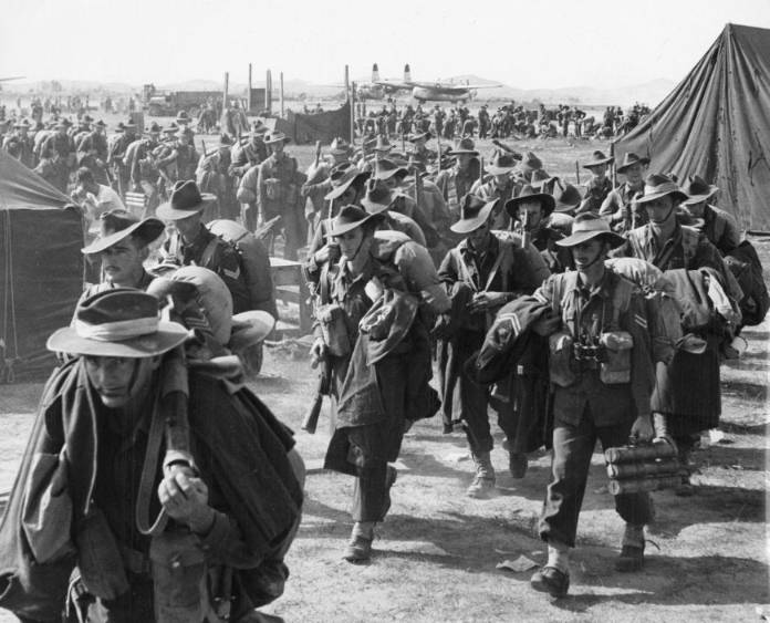 australian soldiers coming to the Korean war