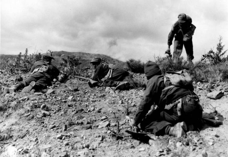 Photo canadian soldiers during the Korean war
