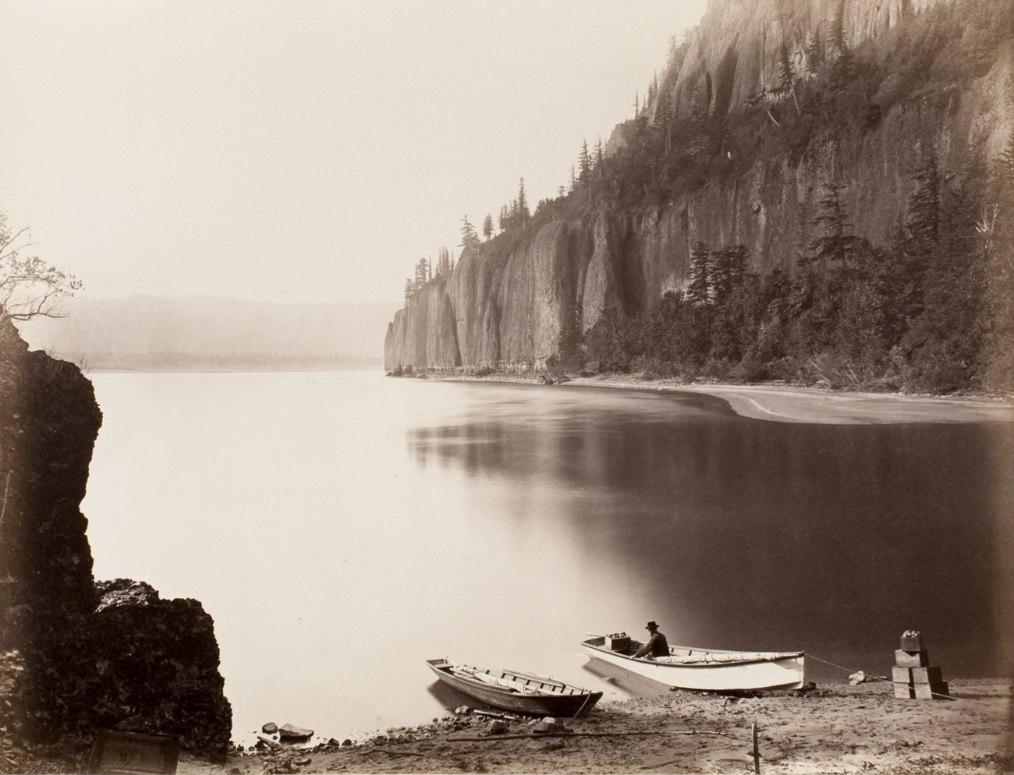 Carleton Watkins photos: Cape Horn, Columbia River, 1867