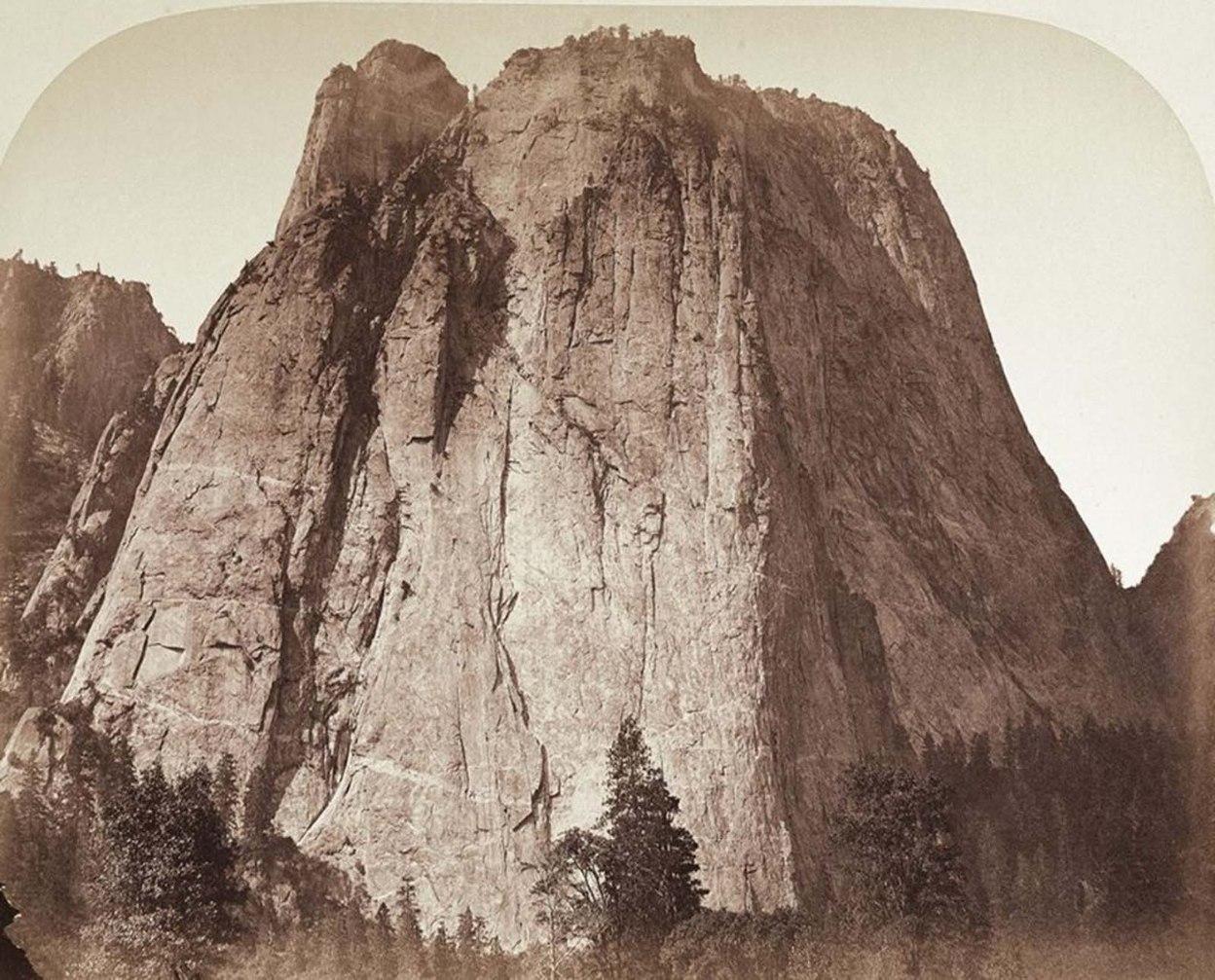 Cathedral-rock-Yosemite by Carleton Watkins, historical