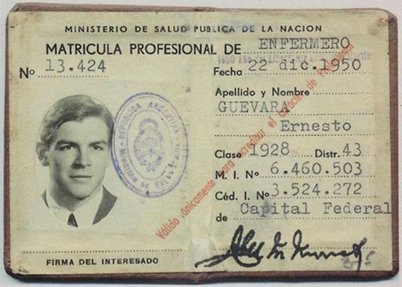 Che Guevara nursing license