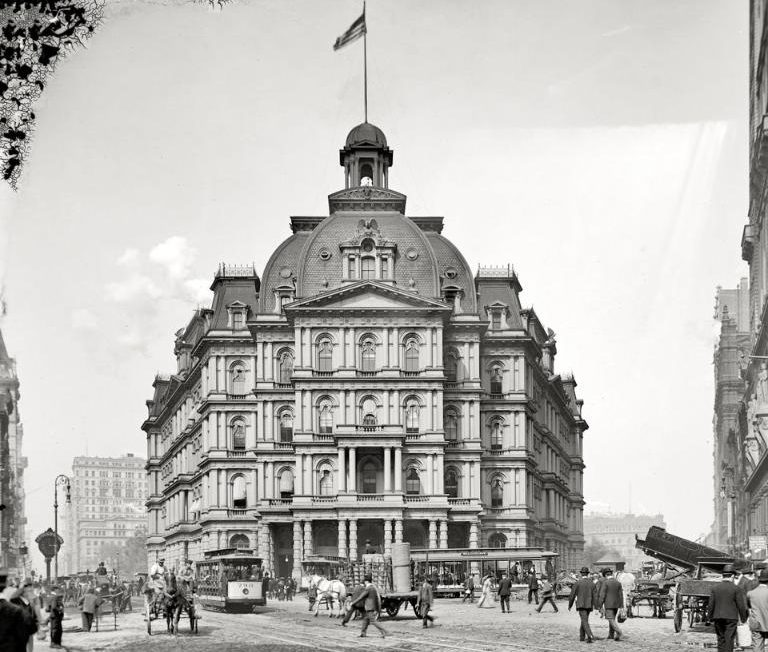 City hall post office, 1905