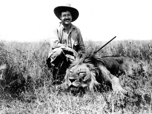 Ernest Hemingway and a dead cat