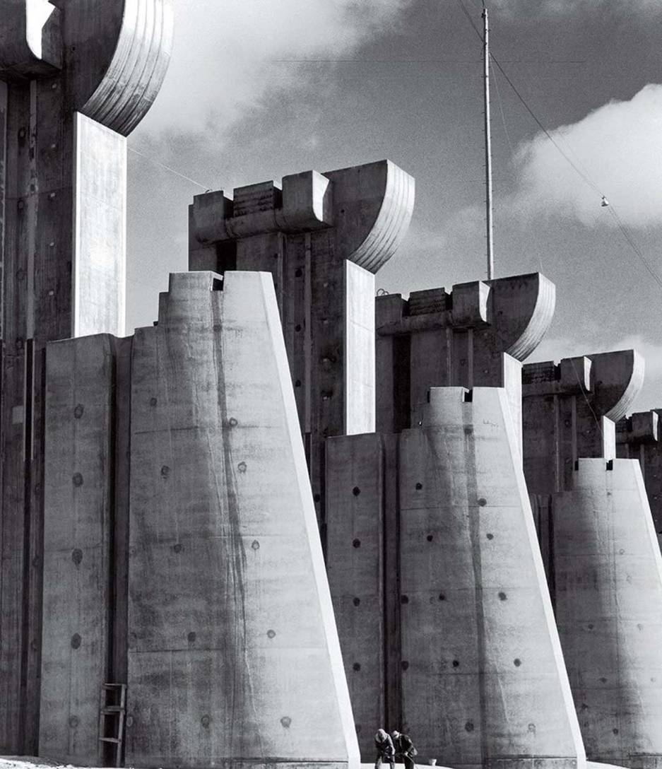 Fort Peck Dam construction photo