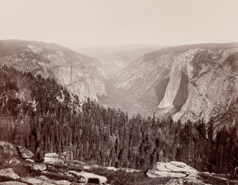 From the Sentinel Dome, Down the Valley, Yosemite