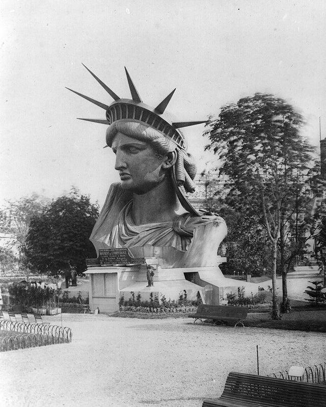 Liberty Statue head in Paris