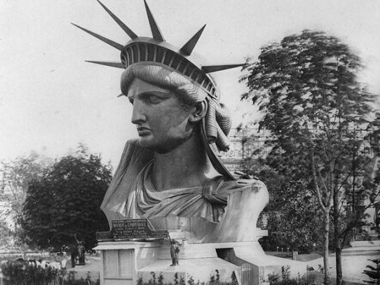 Head of the Statue of Liberty in Paris