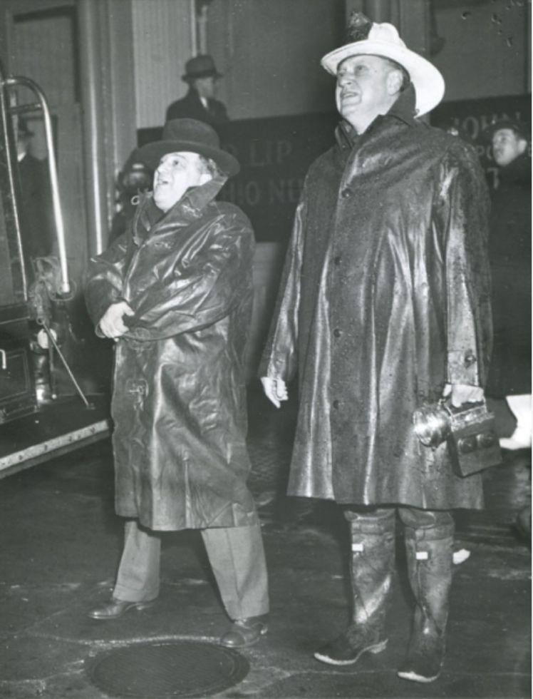 NYC mayor and firemen chief