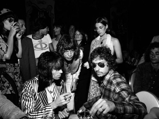 Mick Jagger at his 29th birthday party, New York 1972
