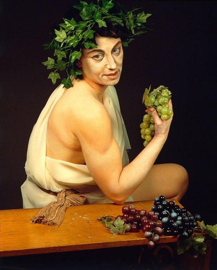 Cindy Sherman as Rafael painting