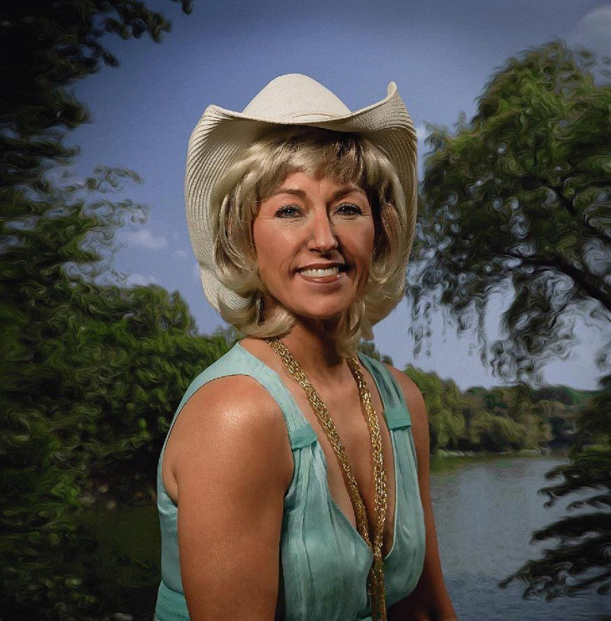 Cindy Sherman as a cowgirl