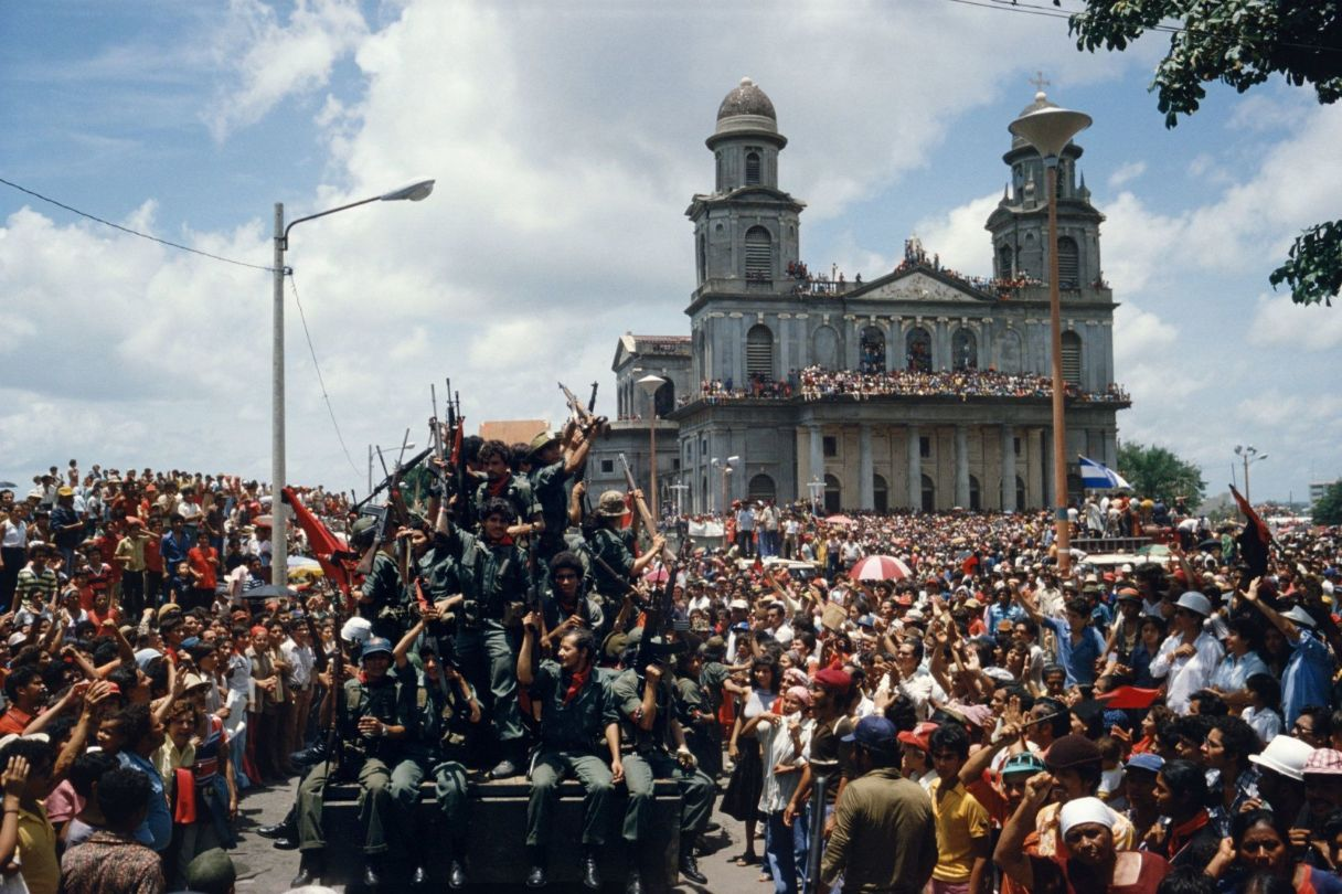 Entering the central plaza in Managua