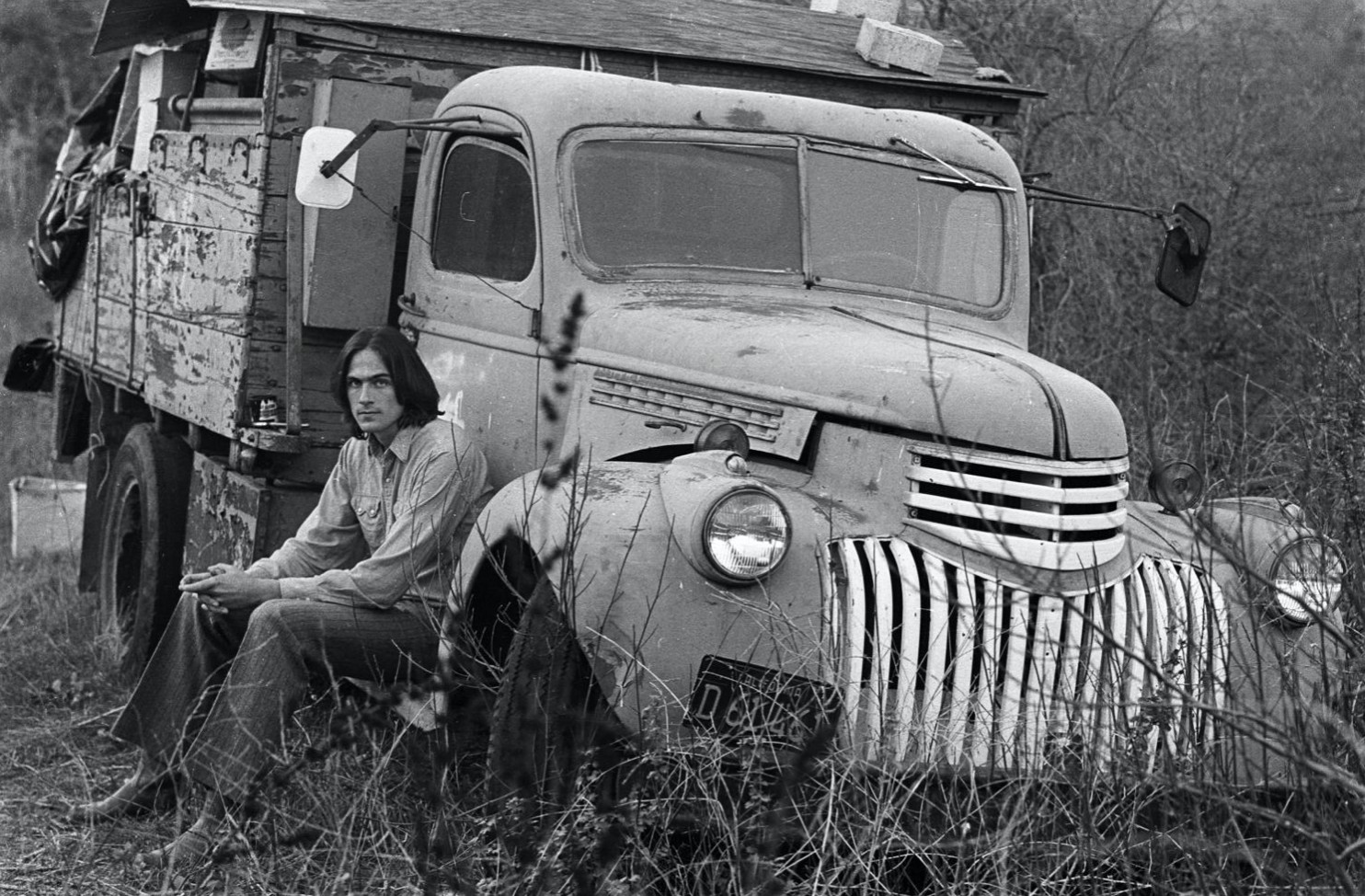 James Taylor and Old truck