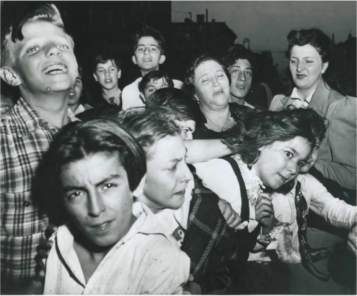 Their first crime, Weegee