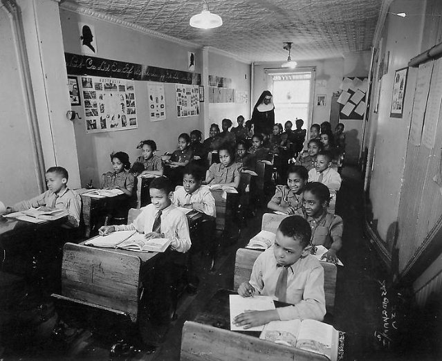 Classroom in a Harlem's school