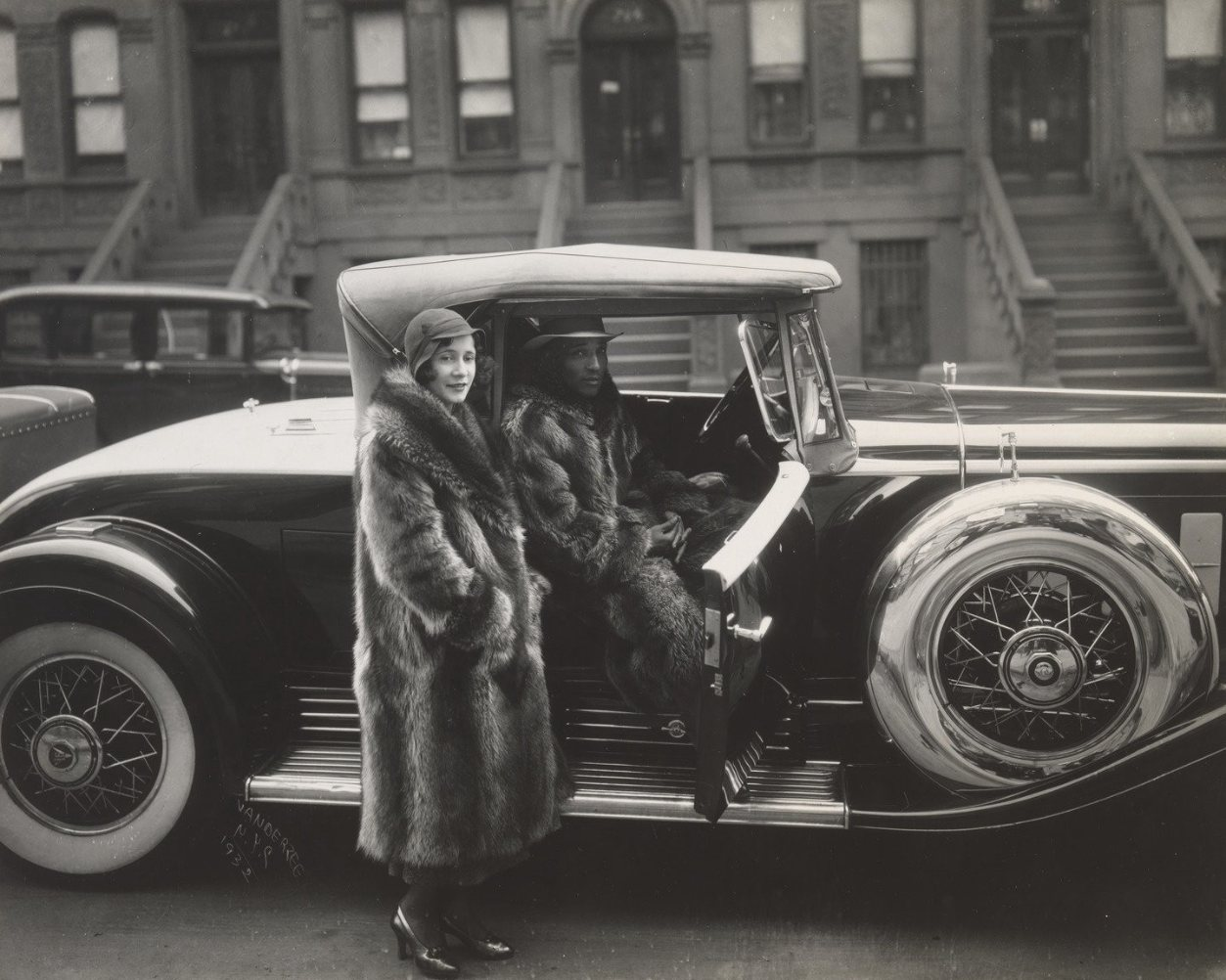 Couple In Raccoon Coats, 1932