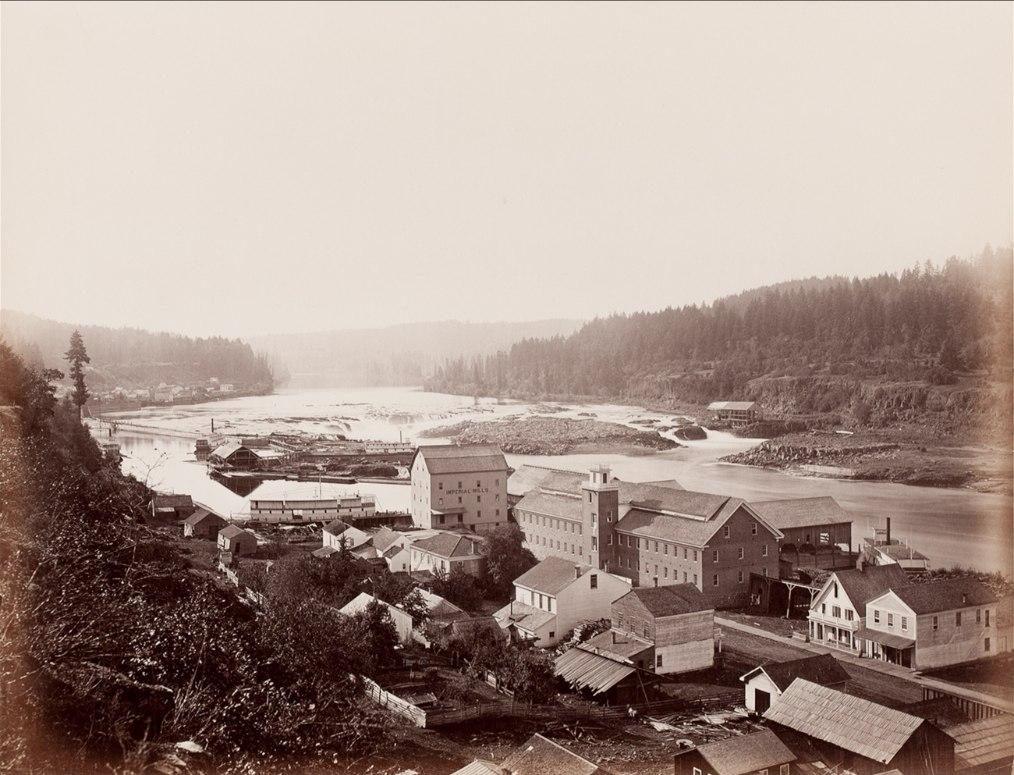 Willamette Falls, Oregon City, 1867