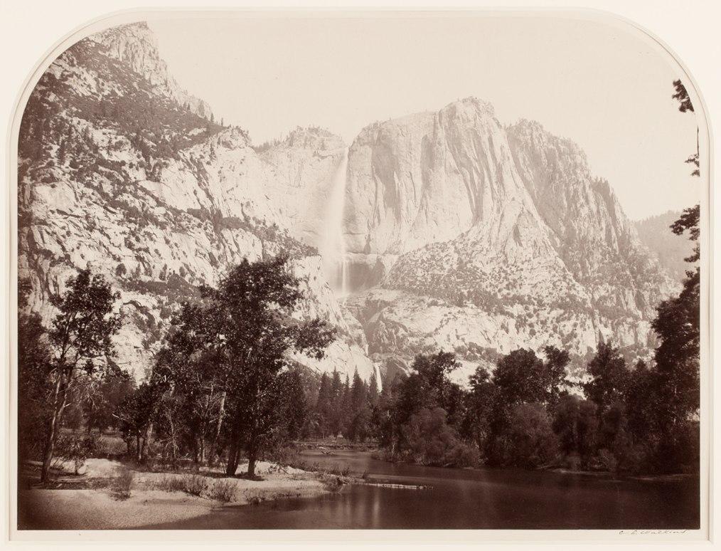 Carleton Watkins photos Yosemite Falls (River View)