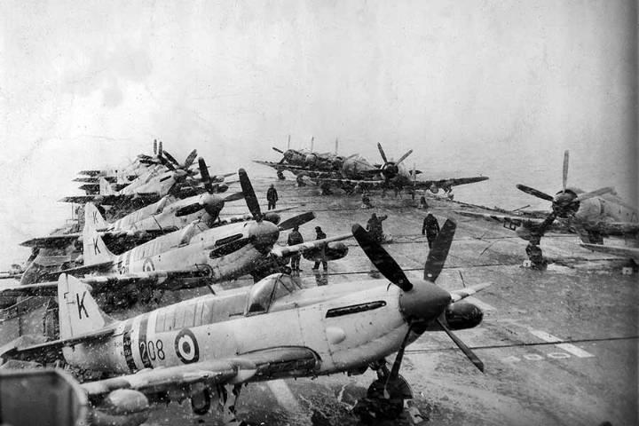Australian carrier during snowstorm