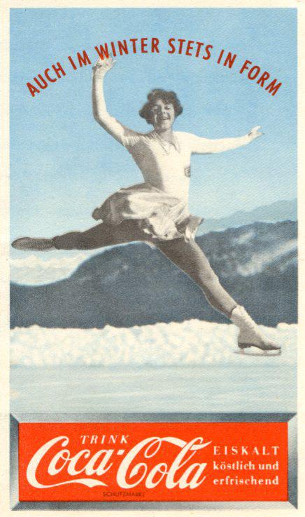 Skating Coca-Cola advertising