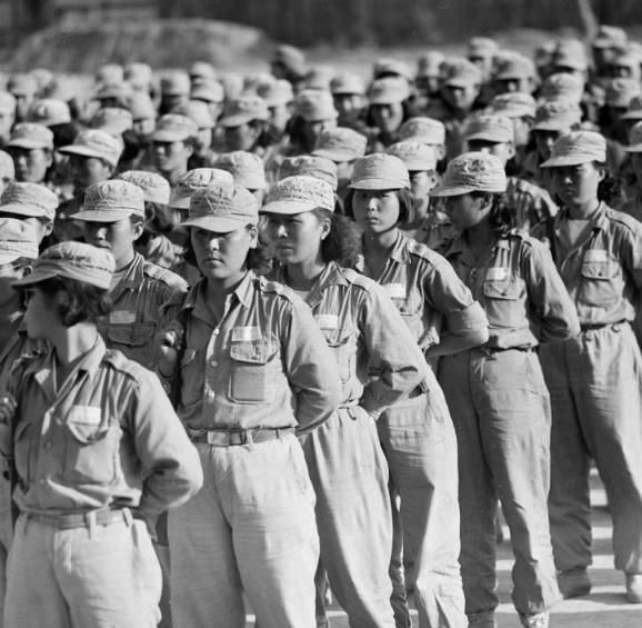 Female soldiers during the Korean war