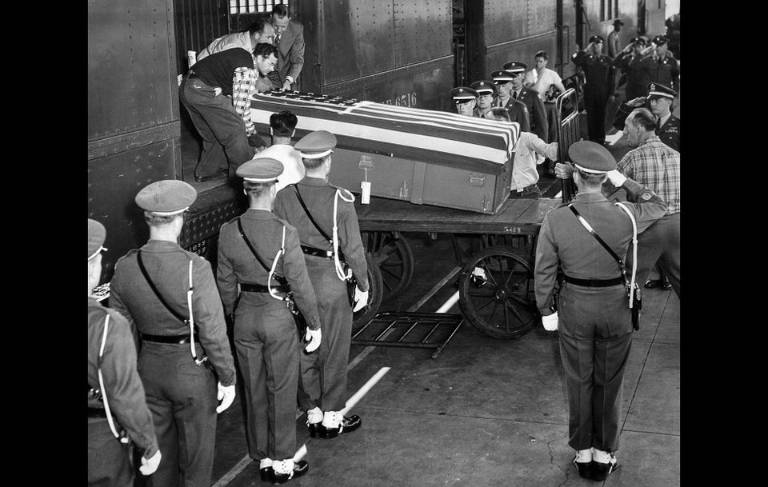 A body of the first dead soldier LA