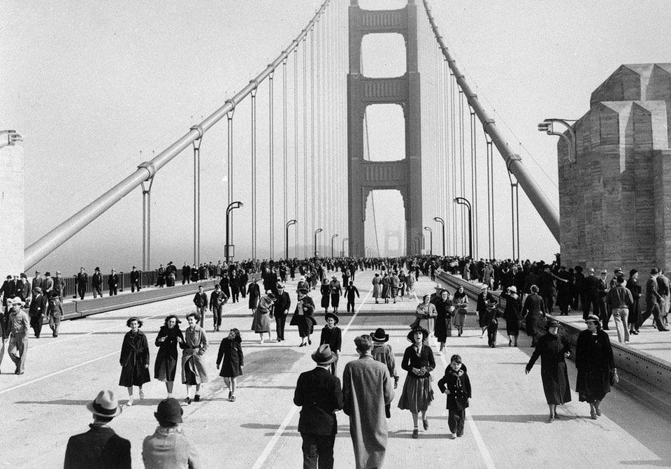 golden gate bridge opening, 1937