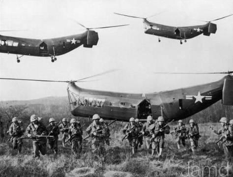 Helicopter during Korean war