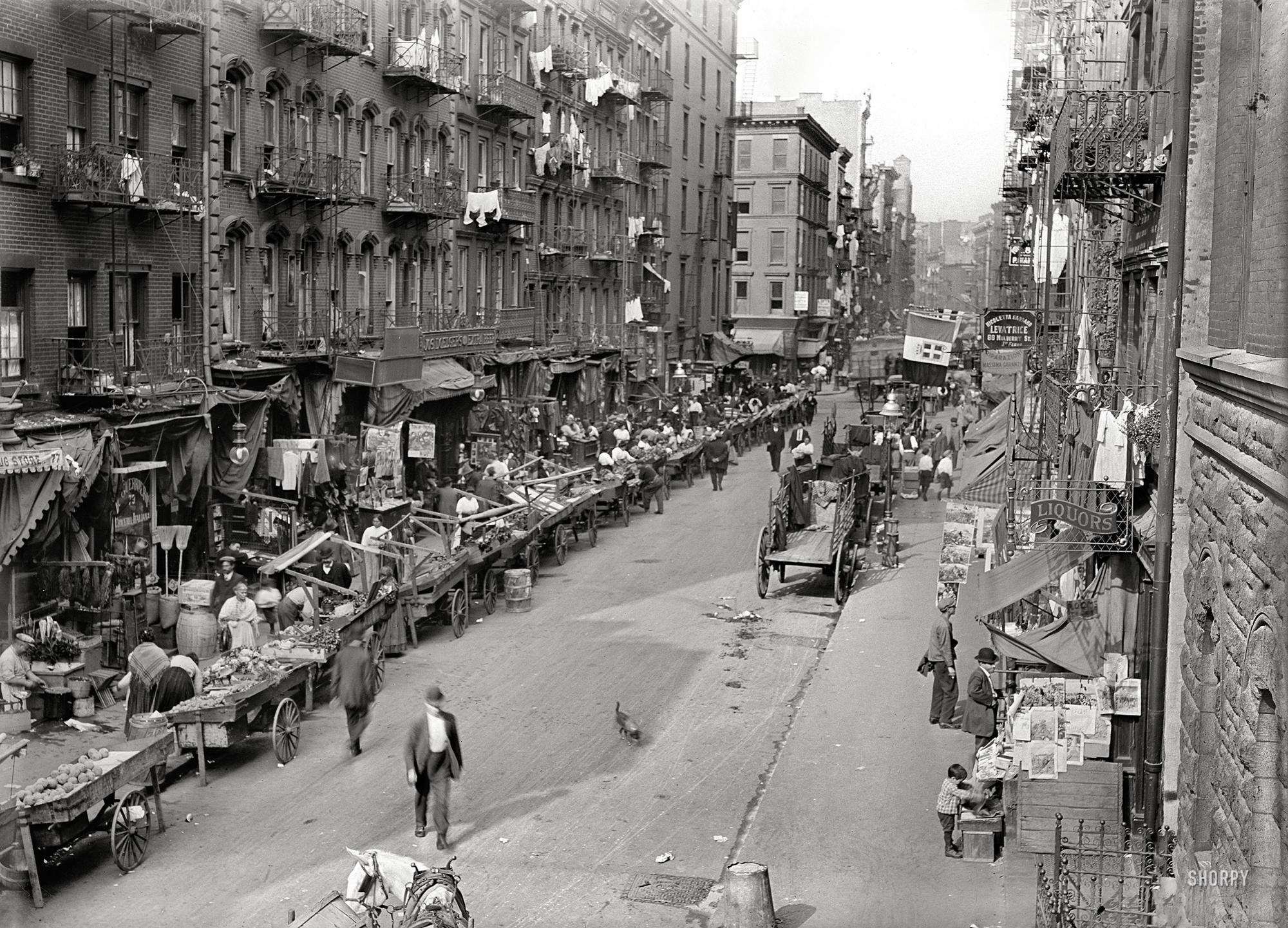 Italian district, NYC 1905
