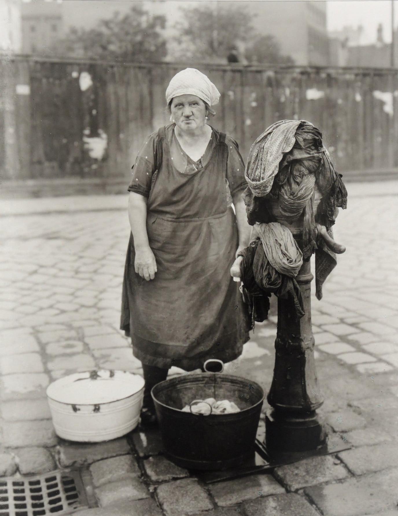 laundress by August Sunder