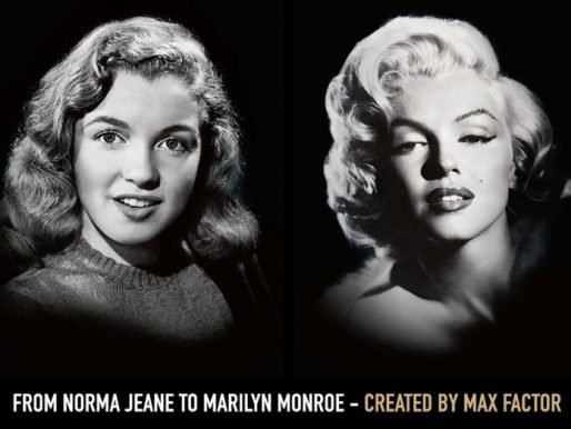 Marilyn Monroe and Max Factor advertising