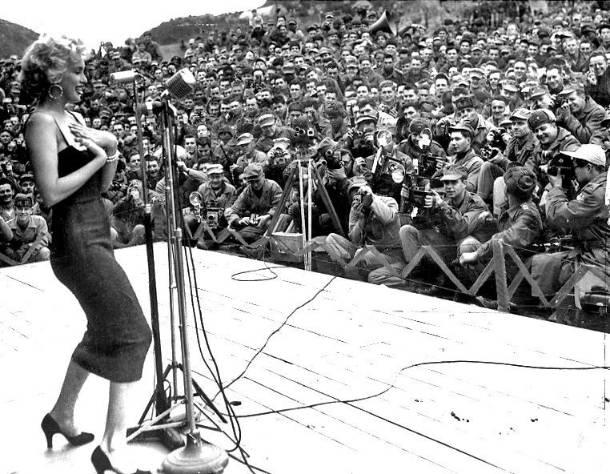Marilyn Monroe during the Korean War