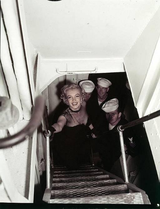 Marilyn Monroe on navy ship
