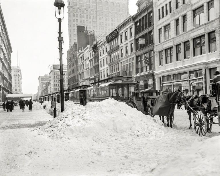 23th sreet in 1905, NYC