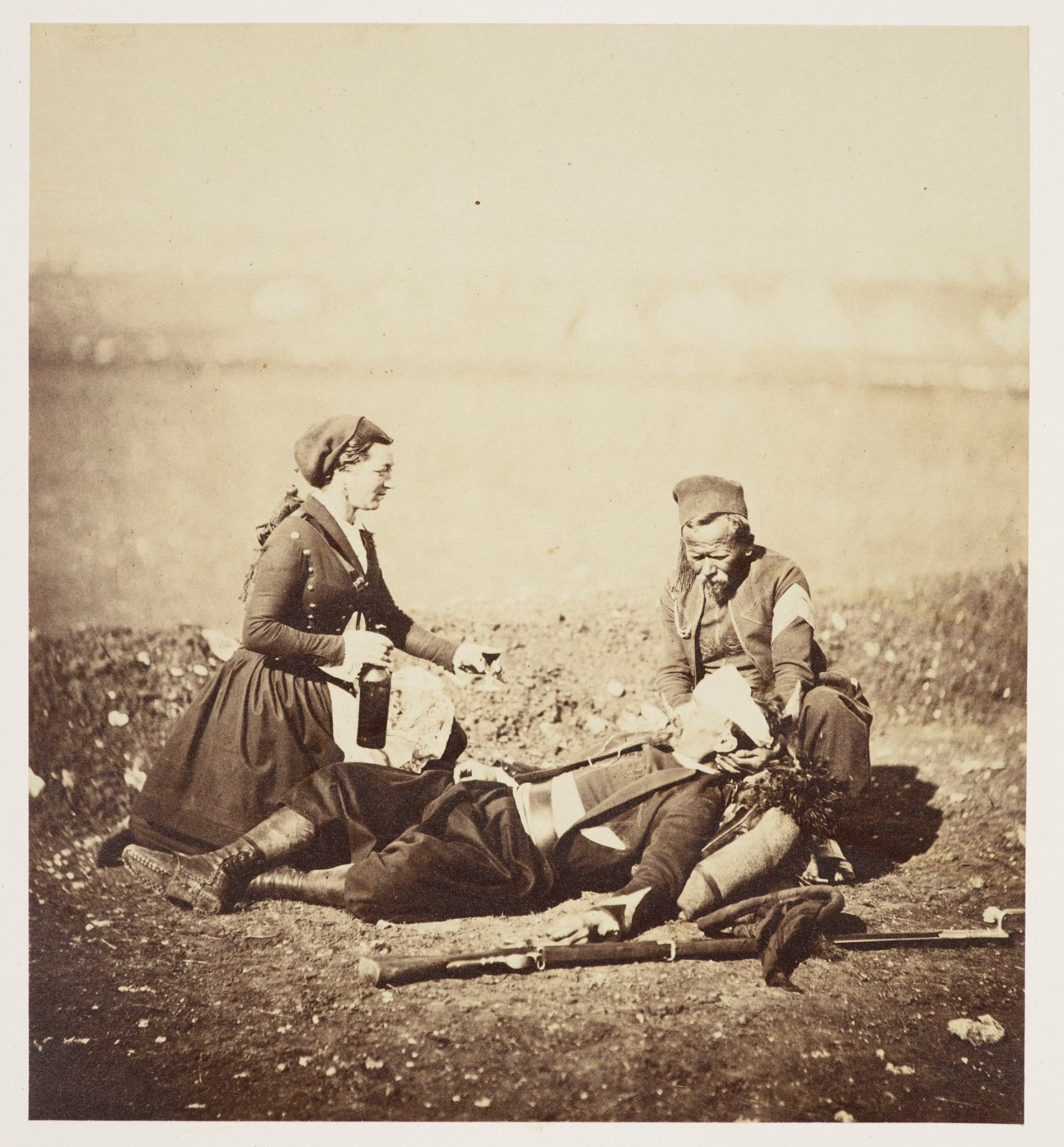 Wounded Zouave and Vivandiere, May 5, 1855.