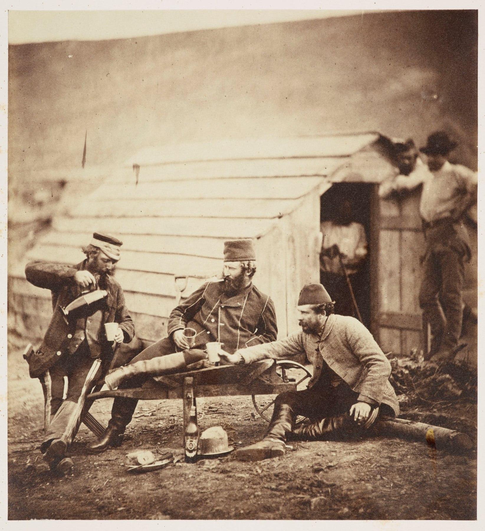 British soldiers with Ottaman allies